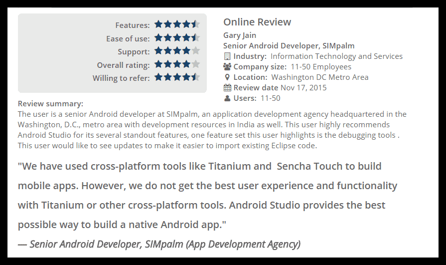 Android Studio Review