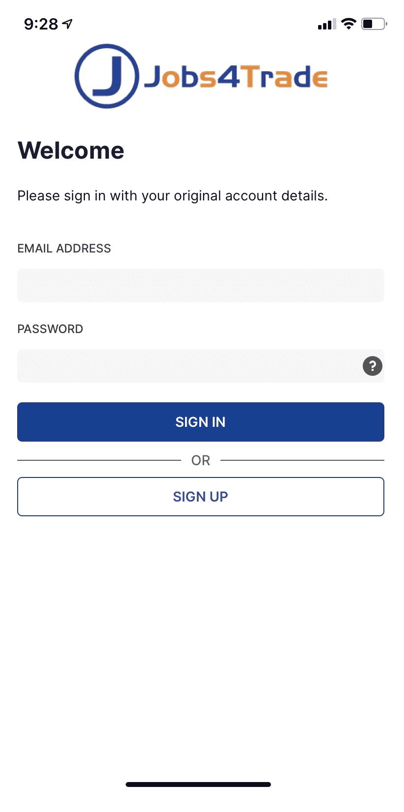 Jobs4trade app